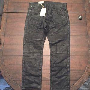 Ralph Lauren D&S Prospect Moto Raw Slim Jeans 36